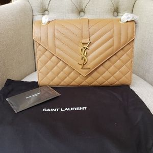Brand New YSL Medium Monogram Envelope Bag